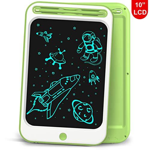 Richgv LCD Schreibtablett, 10 Zoll Board Lernspielzeug Elektronisches Zeichenbrett Handschrift und Doodle-Pad für Kinder und Erwachsene (Grün-A,10 Zoll)