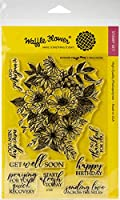 "Waffle Flower Crafts Clear Stamp 5""X7""-Blossoms"