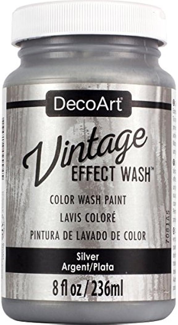 DecoArt Vintage Effect Wash 8oz, Silver