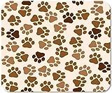 Emonye Alfombrilla antideslizante para ratón para ordenador, oficina, colorido, diseño de huellas de animales, color gris, ceniza, canino, gato, huella de perro, escuela, juego, ordenador, 25 x 30 cm
