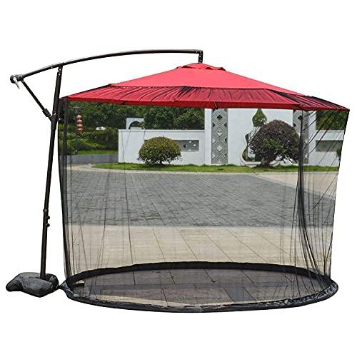 WTOKL Zanzariera per ombrellone da Patio, Rete Universale per ombrellone a baldacchino con Rete a baldacchino con Cerniera, Altezza e Diametro Regolabili,Cantilever Umbrella