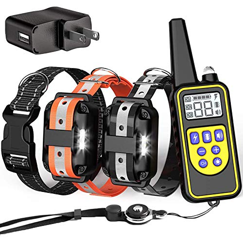 FunniPets Dog Training Collar, 2600ft Range Dog Shock Collar with Remote for Medium and Large Dogs, Waterproof Shock Collar with 4 Training Modes Light Beep Vibration Shock and Safe Reflective Collar