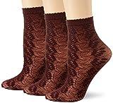 FALKE Damen Dew Drops Socken, rot (barolo 8596), 35-38
