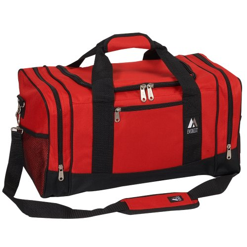 Everest Luggage Sporty Gear Bag, Red/Black, Red/Black, One Size