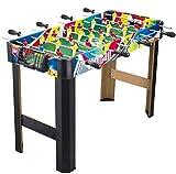 AJH - Mesa de fútbol de 36 Pulgadas y 8 Postes, máquina de fútbol de Madera para niños de 3 a 14 años, Mesa de Entrenamiento, Juguete, niño, niña, Entretenimiento para ad