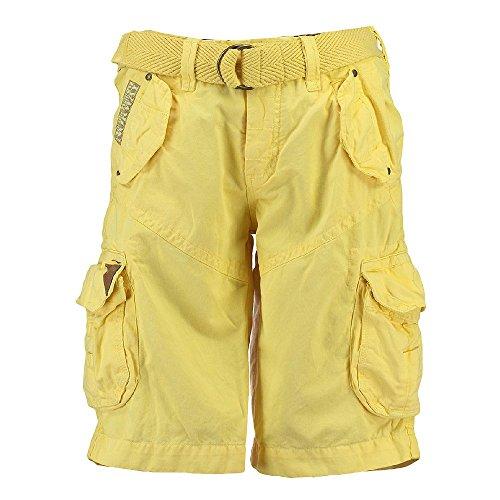 Geographical Norway Herren Cargo Shorts kurze Bermuda Hose Polish Men Yellow (gelb), Größe:M