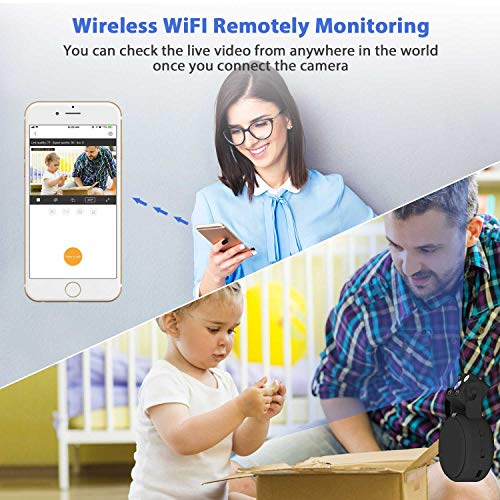 Mini Spy Camera WiFi, Relohas HD 1080P Spy Camera Wireless Hidden Live Streaming, Upgraded Night Vision/Motion Activated Spy Cam Nanny Cam, Security Camera for Home and Outdoor (with Cell Phone APP)