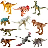 Jurassic WorldCampCretaceousIsla Nublar Multipack Featuring 10 Mini Dinosaur Action Figures with Realistic Sculpting, Authentic Decoration Movable Articulation Points