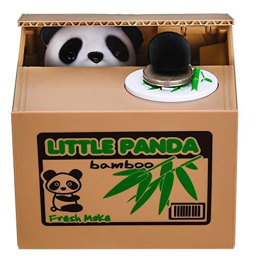 Panda Stealing Money Bank, Piggy Bank for Kids, Coin Bank for Money Saving, Automatic Stealing Money with English Speaking, Creative Gift