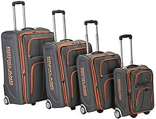 Rockland Polo Equipment Varsity Softside Upright Luggage Set