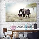 KWzEQ Imprimir en Lienzo Decoración de Pared de Elefante Africano para Sala de Estar Imagen de Arte de Pared Carteles caseros Obras de arte70x105cmPintura sin Marco