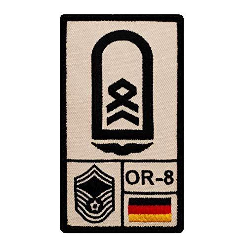 Café Viereck ® Stabsfeldwebel Luftwaffe Bundeswehr Rank Patch mit Dienstgrad - Gestickt mit Klett – 9,8 cm x 5,6 cm