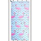 DecoKing Strandtuch 80x180 cm Mikrofaser kühlend schnelltrocknend leicht saugstark Anti Sand Flamingo Badetuch Duschtuch Sporthandtuch Reisehandtuch weiß rosa blau Paradise