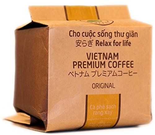 VietBeans – Hello5 Original gemahlener Röstkaffee – Organisch angebauter vietnamesischer Kaffee - Schokoladige Note - Dunkel und kräftig - 250g