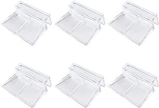 POPETPOP 6 unids Acuario Tanque de Peces Tapa de Vidrio Clip de Soporte Soporte 6mm