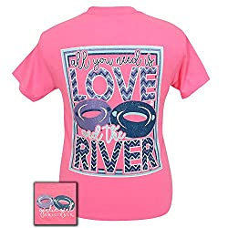 Girlie Girl Originals All You Need is Love and the River Short Sleeve T-Shirt