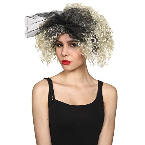 Women's Madonna Wig with Lace Bow