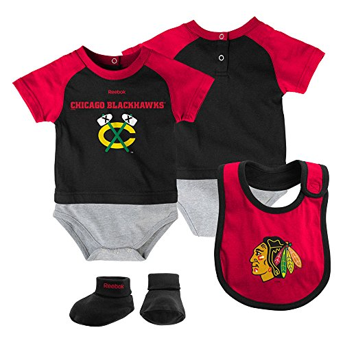 Chicago Blackhawks Newborn / Infant 3-Piece Creeper Set by Reebok Select Infant / Toddler / Youth Size: 6/9 Months