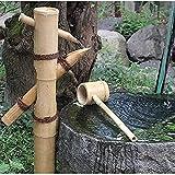 VARADOMO Fuente de Agua para jardín Zen Bomba oscilante de bambú Paisaje de Agua Característica de Agua de bambú Fuente de Agua con Cuchara de Flujo de Agua de jardín japonés al Aire Libre