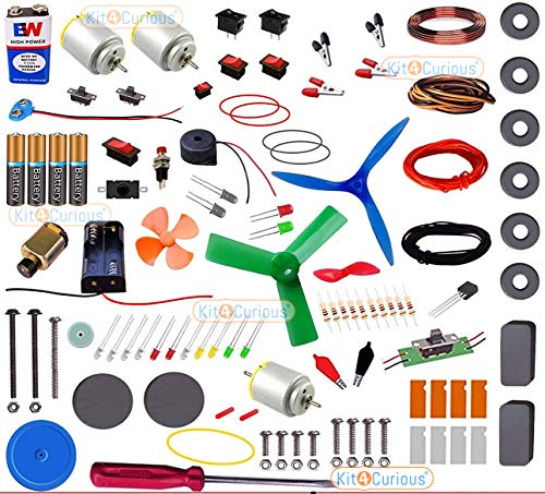 Kit4Curious NASA Tech Super Kit 100 items in a kit – Science & fun innovation Kit with instruction manual