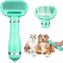 Dog Hair Dryer, 2 Heat Settings Dog Dryer 2 in 1 Pet Hair Dryer with Slicker Brush Professional Dog Bath Brush Pet Hair Dryer Dog Blow Dryer Pet Grooming Dryer for Small Medium Large Dogs Cats