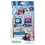 Frozen 2 Girls 20 Piece Accessory Set with 3 Barrettes, 4 Snap Hair Clips, 5 Elastics and 8 Terry Ponies