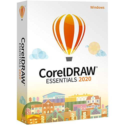 CorelDRAW Essentials 2020   Graphic Design, Vector Illustration, Page Layout Software for Creative Hobbyists and DIY'ers   Calendars, Cards, Social Media Images and More [PC Disc] [Old Version]