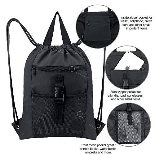 HUOPR5Q Blue and Yellow Plaid Drawstring Backpack Sport Gym Sack Shoulder Bulk Bag Dance Bag for School Travel