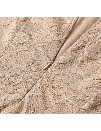 DRESSTELLS Women's Cocktail Floral Lace Handkerchief Hem Bridesmaid Wedding Gown