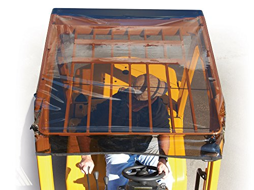 Solarcap Universal Tinted Forklift Cover, Sun and Rain Canopy Cover, Heavy Duty, Waterproof Tinted Vinyl for UV Protection, OSHA Complaint Forklift Accessories, Universal Fit