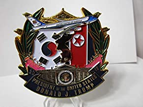 United States Marine Corps Marine Security Guard Detachment American Embassy Seoul South Korea POTUS Trump Visit Serialized Challenge Coin