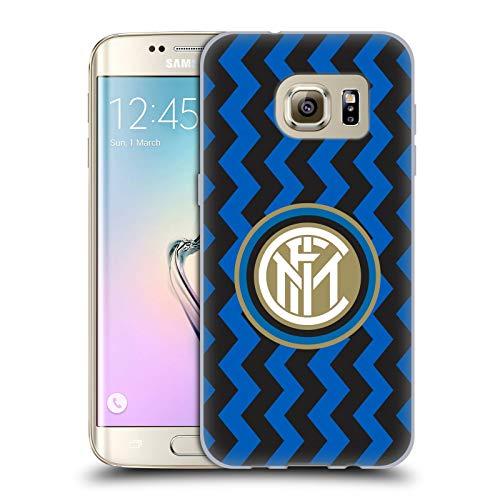 Head Case Designs Licenza Ufficiale Inter Milan in Casa 2020/21 Kit Crest Cover in Morbido Gel Compatibile con Samsung Galaxy S7 Edge