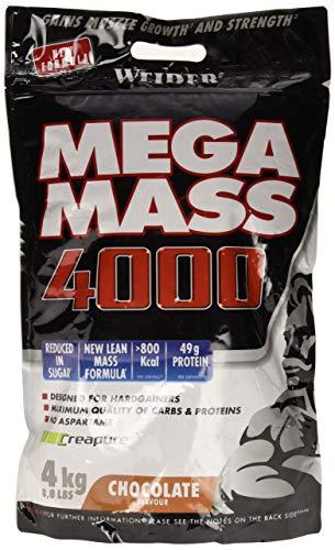 Weider Mega Mass 4000, Gusto Cioccolato - 4 kg