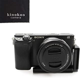 kinokoo vertical soporte para placa de liberación rápida placa en forma de L para Sony A6000A6300A6500Arca Swiss estándar