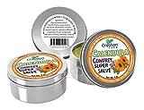 Creation Farm Calendula-Comfrey Super Salve - 3 Pack Large 4 oz Tins -Calendula Ointment - Caléndula Consuelda-Súper Salve