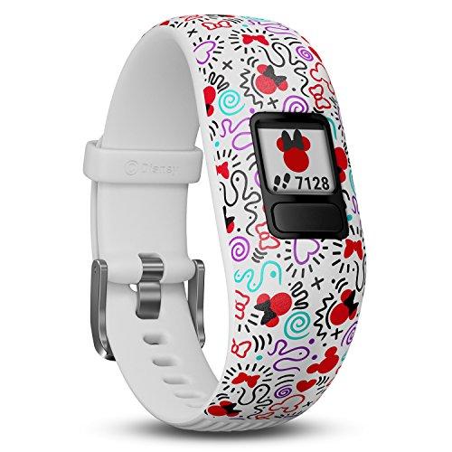 Garmin vívofit jr. 2 digitale, wasserdichte Action Watch im Minnie Maus Design für Kinder ab 6 Jahren, mit spannender Abenteuer-App, Schrittzähler, weiß, Batterielaufzeit bis zu 1 Jahr, Spielspaß