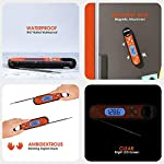 Marsno Digital Meat Thermometer, Instant Read Thermometer –Best Waterproof Ultra Fast Read Thermometer with Backlight… 5
