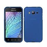 TBOC® Funda de Gel TPU Azul para Samsung Galaxy J3 (2016) - Samsung Galaxy J3 de Silicona Ultrafina y Flexible
