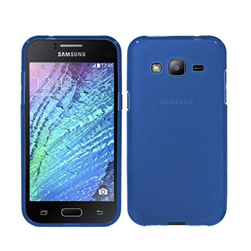 TBOC Funda de Gel TPU Azul para Samsung Galaxy J3 (2016) - Samsung Galaxy J3 de Silicona Ultrafina y Flexible