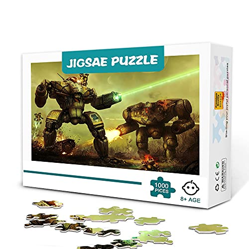 1000-Teilige Mini-Puzzles Für Erwachsene Battletech Das Brettspiel 1000-Teilige Puzzles Spielzeug Spiel Geschenk Entspannungs- Und Dekompressions-Puzzle-Spiel 38X26Cm