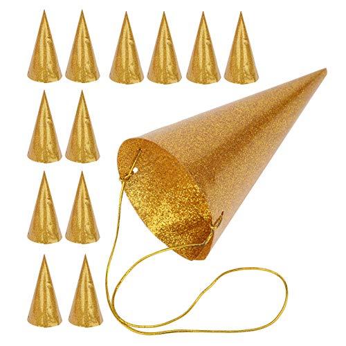 Good Decorations Gorro de cumpleaños, elegante y delicada corona de fiesta infantil, para fiestas infantiles, fiestas de cumpleaños, fiestas, niñas(Golden)