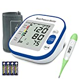 Digital Blood Pressure Monitor - Blood Pressure Monitor, Upper Arm Rechargeable BP Monitor Machine with LED Display