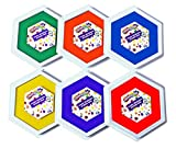 Colorations Classic Primary Colors Jumbo Washable Stamp Pads Washable Ink Pack of 6 (6'L x 7'W) - JSP