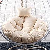 Onlyonehere - Cuscino sospeso per sedia a dondolo da appendere all'uovo, amaca, imbottitura impermeabile e spessa, ideale per patio, giardino (senza sedia) Beige