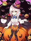 YHBL Puzzle 1000 Teile Halloween-Cartoon-Mädchen Erwachsenenpuzzle,Kreative Erwachsene,Legespiel Puzzle,Pädagogisches,Stress Freisetzung Spielzeug,Klassische(75x50 cm)