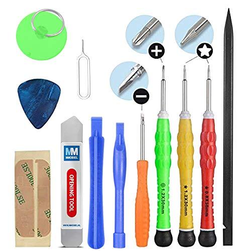 MMOBIEL Kit Complet d'outils 13 en 1 compatible avec Réparation de Smartphones/Tablettes (iPhone iPad Samsung Motorola Huawei .)