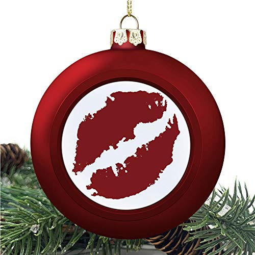 SUPNON Kissprint of Red | Christmas Ball Ornaments 2020 Christmas Pendant Personalized Creative Christmas Decorative Hanging Ornaments Christmas Tree Ornament №YF0575