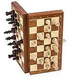 Square - Ajedrez de Madera - MAGNÉTICO - Basic - Tablero de ajedrez - 26,5 cm