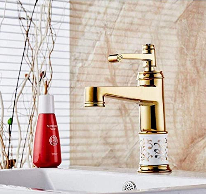 Retro Wasserhahn überzogene Badezimmer-Bassin-Hahn-Badezimmer-Muster-keramische Küchen-Hahn-Wasser-mischender Schlüssel-Wannen