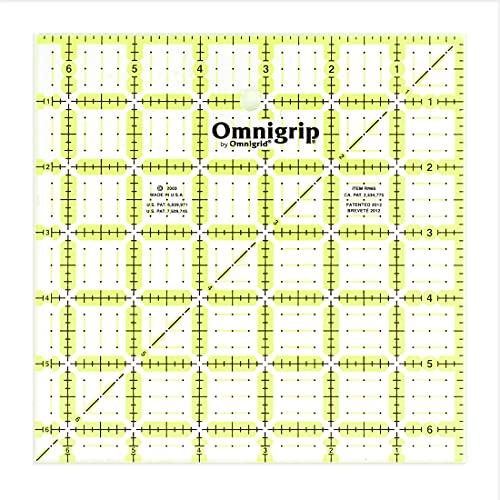 """Omnigrid Non-Slip Quilter's Ruler, 6-½"""" x 6-½"""""""